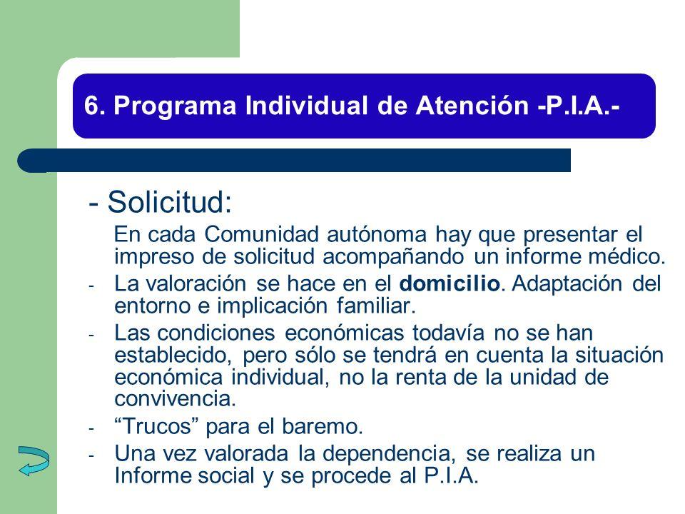6. Programa Individual de Atención -P.I.A.-