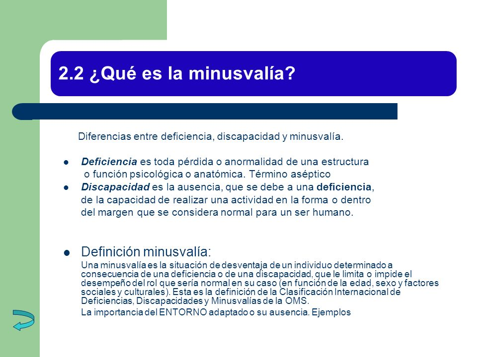 2.2 ¿Qué es la minusvalía Definición minusvalía: