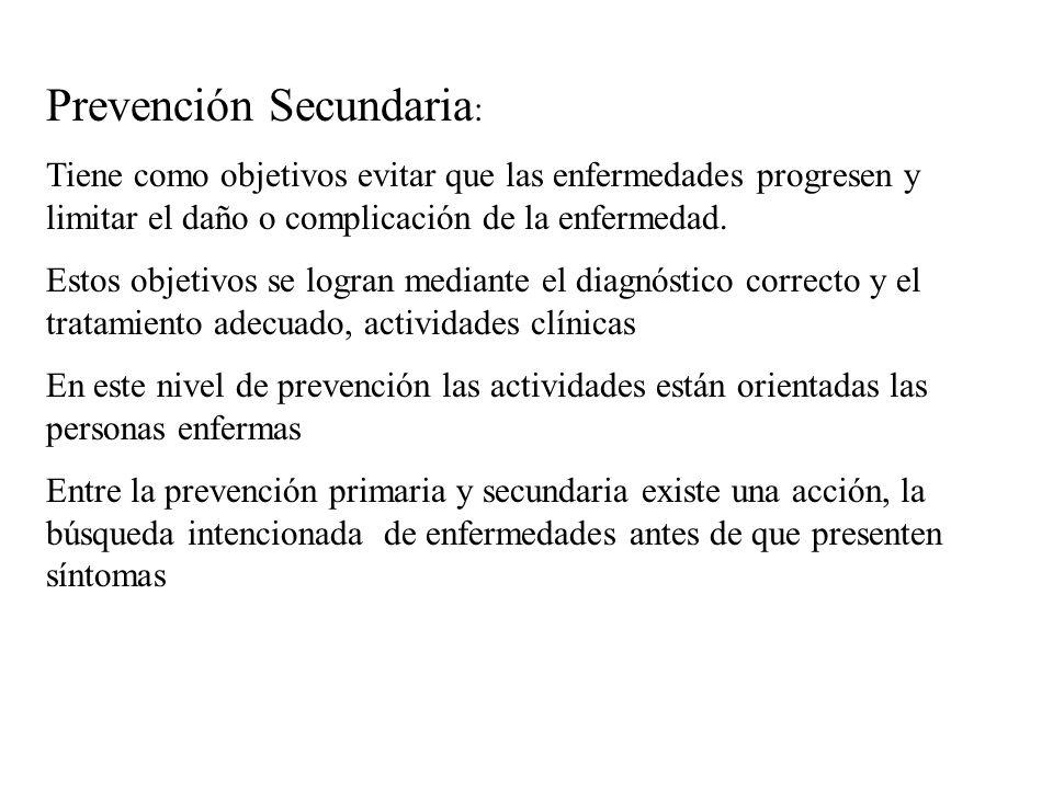 Prevención Secundaria: