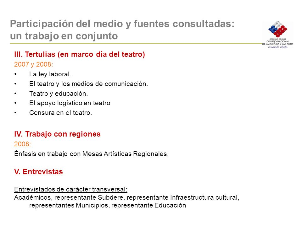 Participación del medio y fuentes consultadas: un trabajo en conjunto