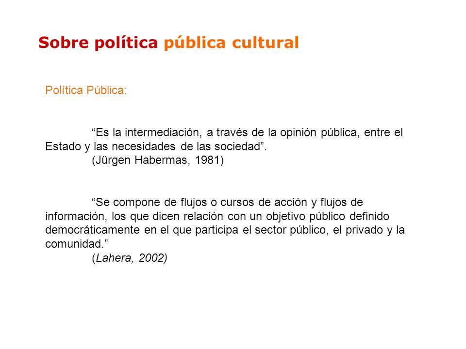 Sobre política pública cultural