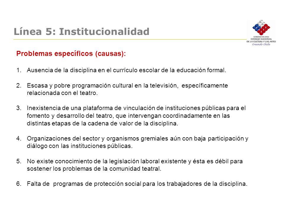Línea 5: Institucionalidad
