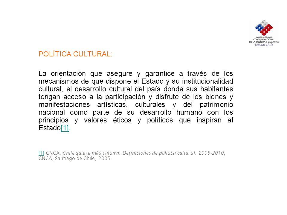 POLÍTICA CULTURAL: