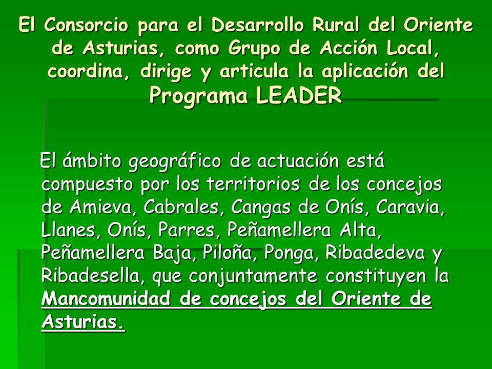 El Consorcio para el Desarrollo Rural del Oriente de Asturias, como Grupo de Acción Local, coordina, dirige y articula la aplicación del Programa LEADER