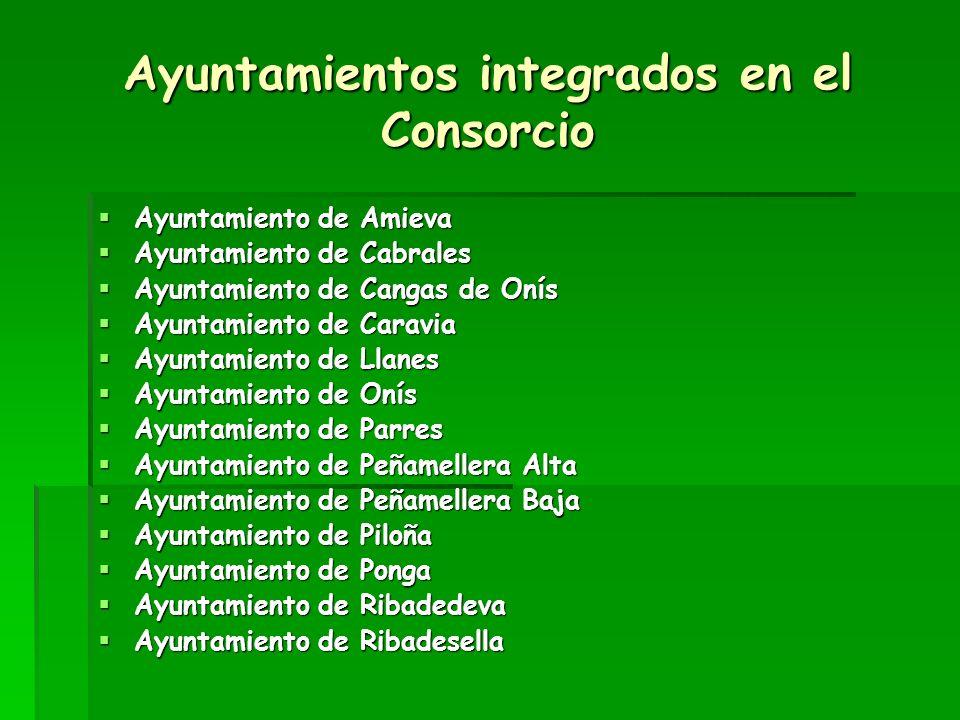 Ayuntamientos integrados en el Consorcio