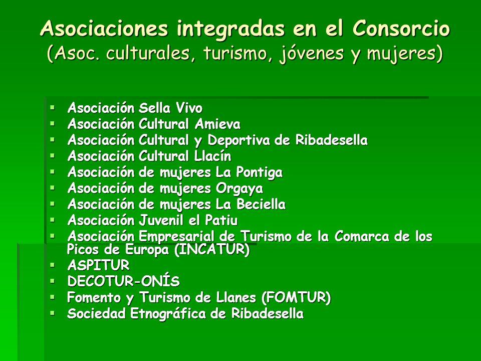 Asociaciones integradas en el Consorcio (Asoc