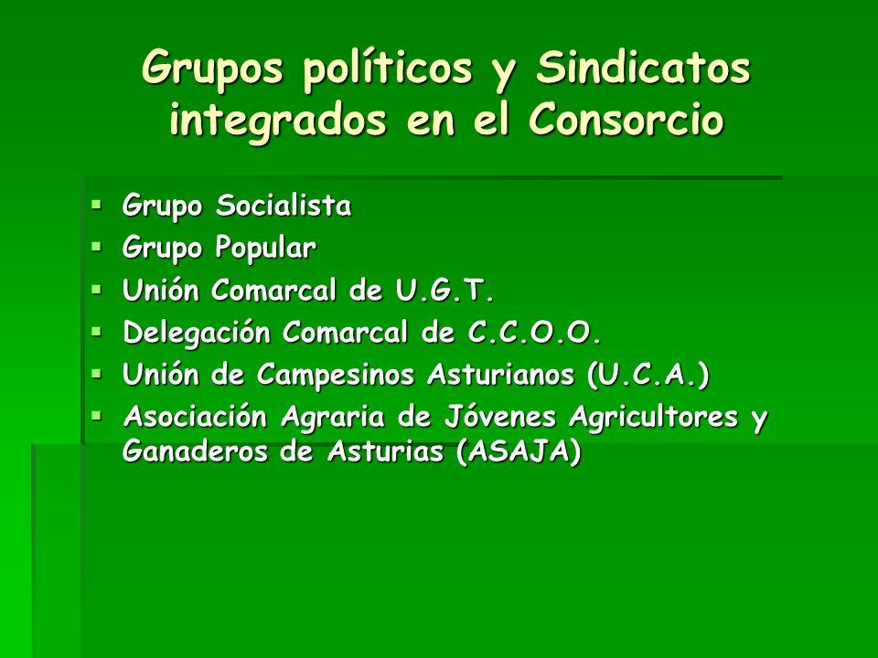 Grupos políticos y Sindicatos integrados en el Consorcio