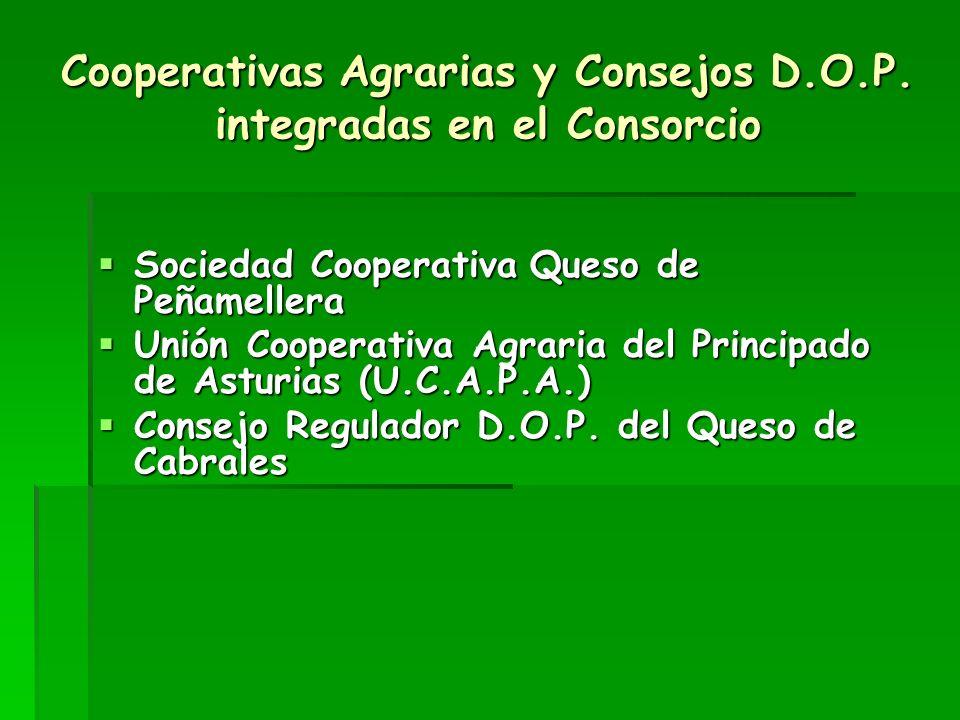 Cooperativas Agrarias y Consejos D.O.P. integradas en el Consorcio