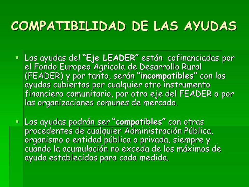 COMPATIBILIDAD DE LAS AYUDAS
