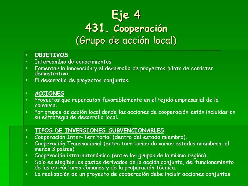 Eje 4 431. Cooperación (Grupo de acción local)