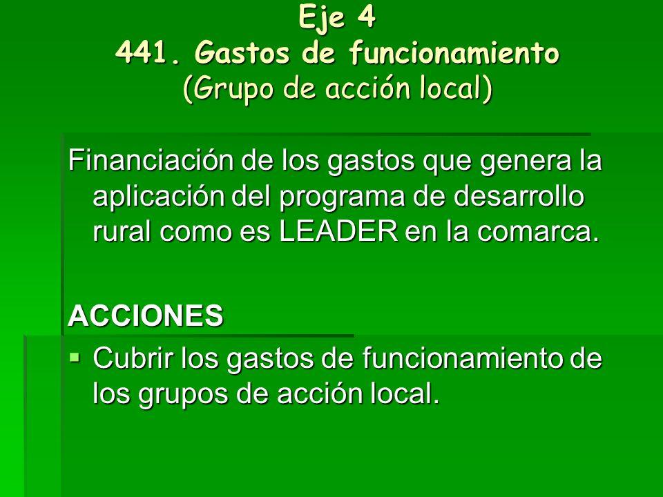 Eje 4 441. Gastos de funcionamiento (Grupo de acción local)
