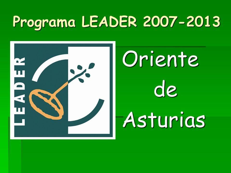 Programa LEADER 2007-2013 Oriente de Asturias