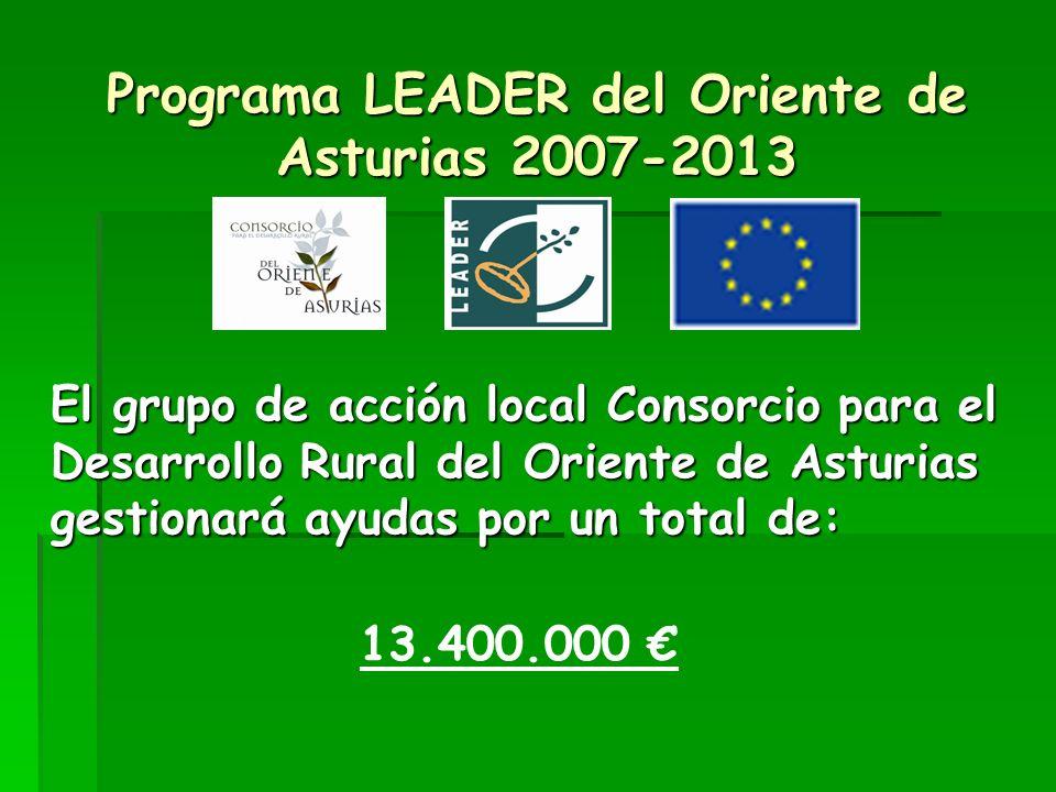 Programa LEADER del Oriente de Asturias 2007-2013