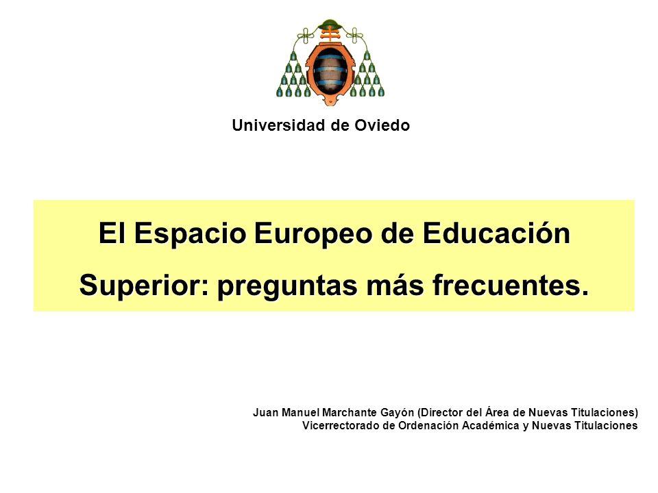 El Espacio Europeo de Educación Superior: preguntas más frecuentes.