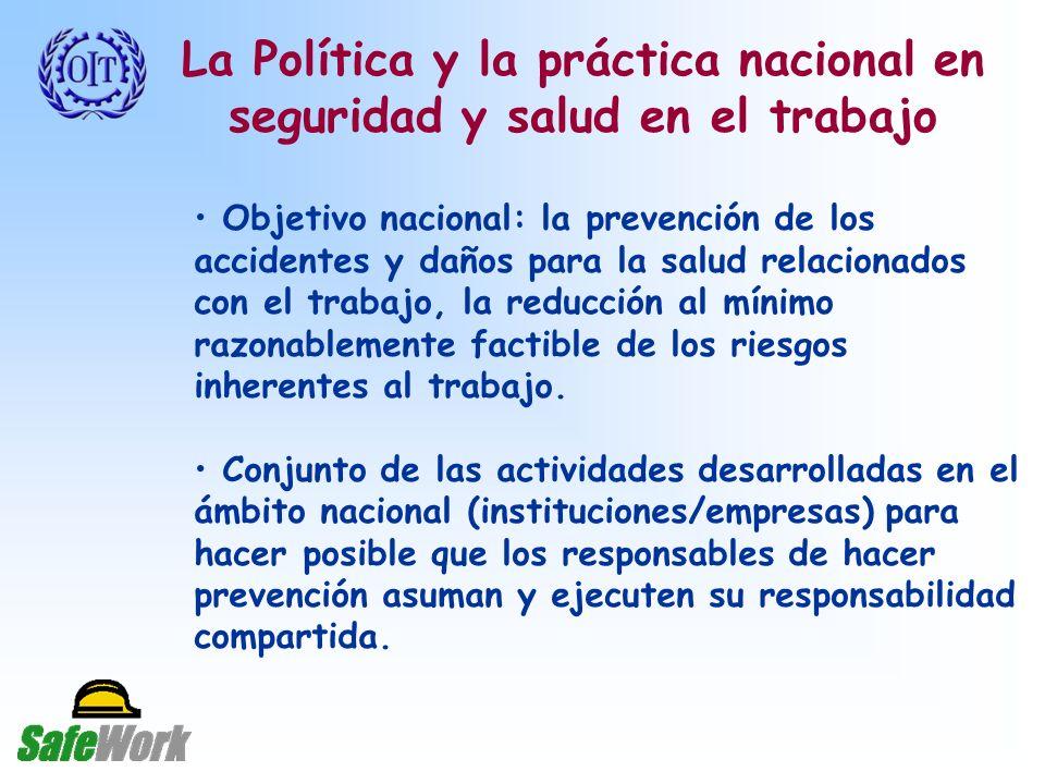 La Política y la práctica nacional en seguridad y salud en el trabajo