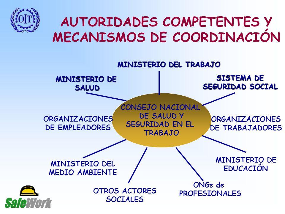 AUTORIDADES COMPETENTES Y MECANISMOS DE COORDINACIÓN