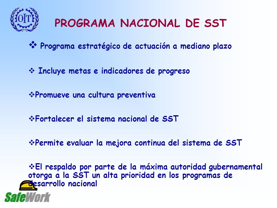 PROGRAMA NACIONAL DE SST