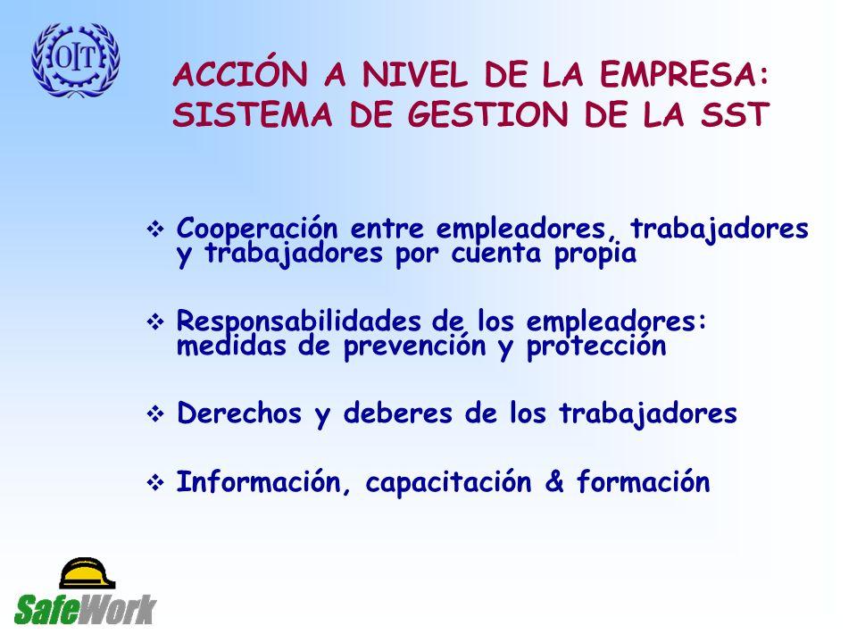 ACCIÓN A NIVEL DE LA EMPRESA: SISTEMA DE GESTION DE LA SST