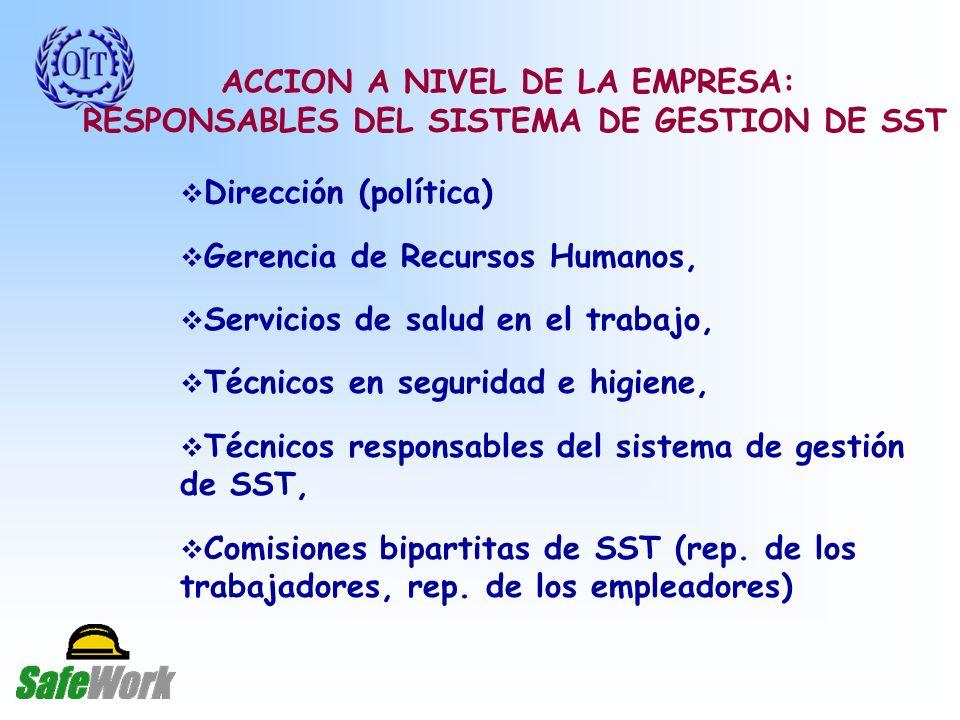 ACCION A NIVEL DE LA EMPRESA: