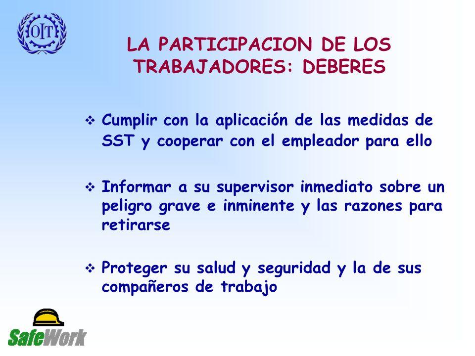 LA PARTICIPACION DE LOS TRABAJADORES: DEBERES