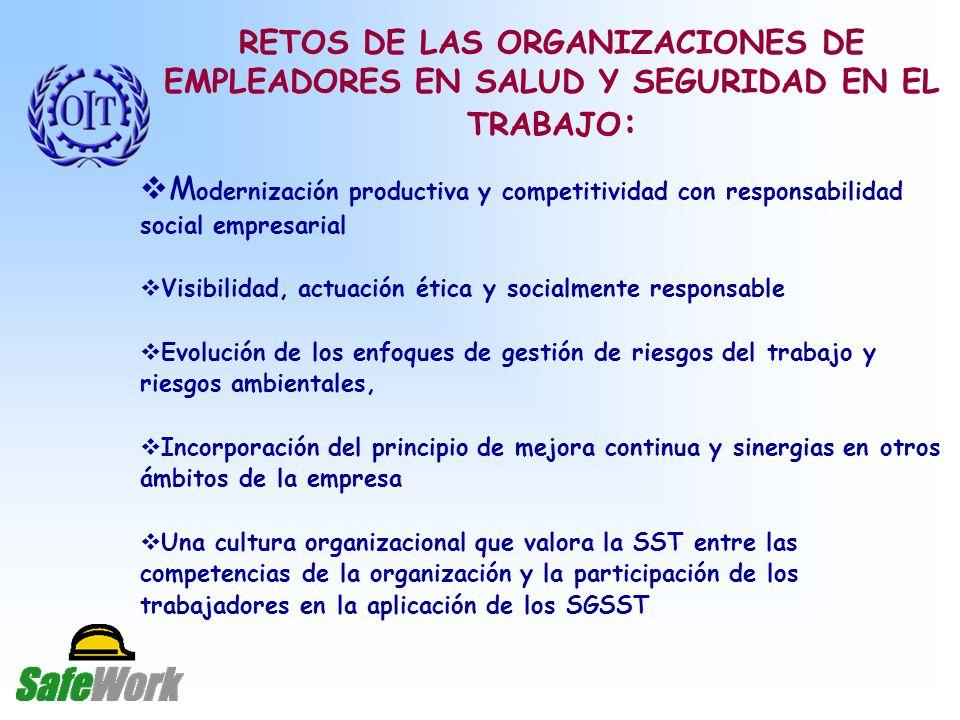 RETOS DE LAS ORGANIZACIONES DE EMPLEADORES EN SALUD Y SEGURIDAD EN EL TRABAJO:
