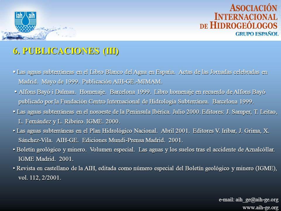 6. PUBLICACIONES (III)