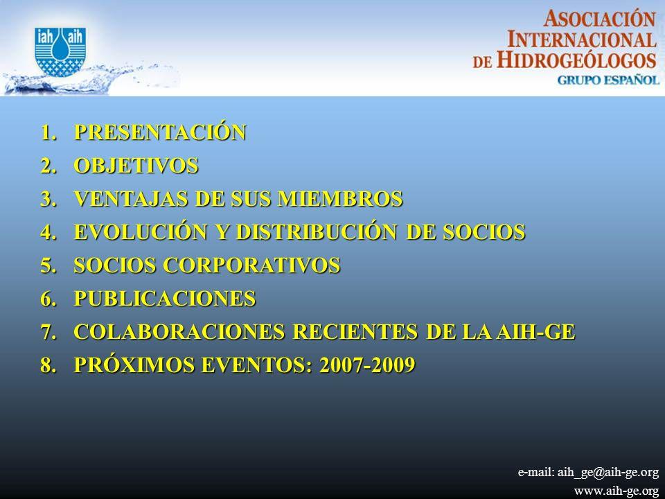VENTAJAS DE SUS MIEMBROS EVOLUCIÓN Y DISTRIBUCIÓN DE SOCIOS