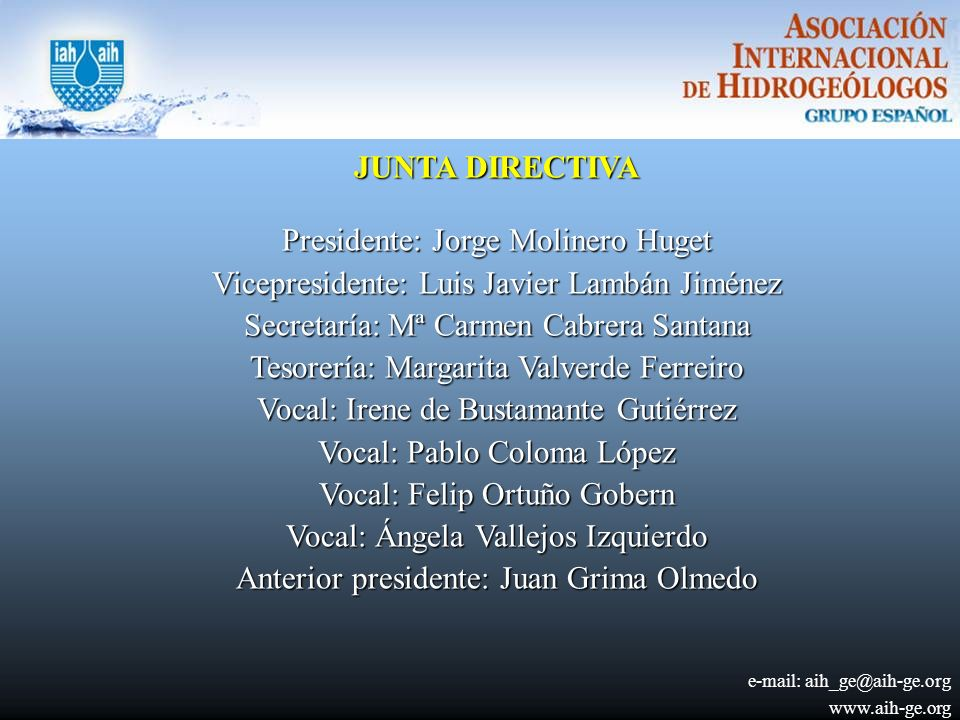 Presidente: Jorge Molinero Huget