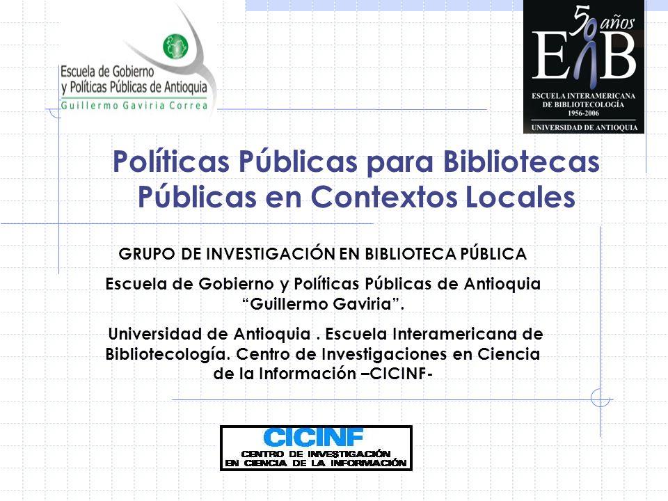 Políticas Públicas para Bibliotecas Públicas en Contextos Locales