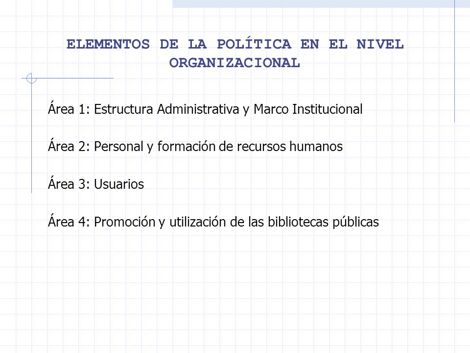 ELEMENTOS DE LA POLÍTICA EN EL NIVEL ORGANIZACIONAL