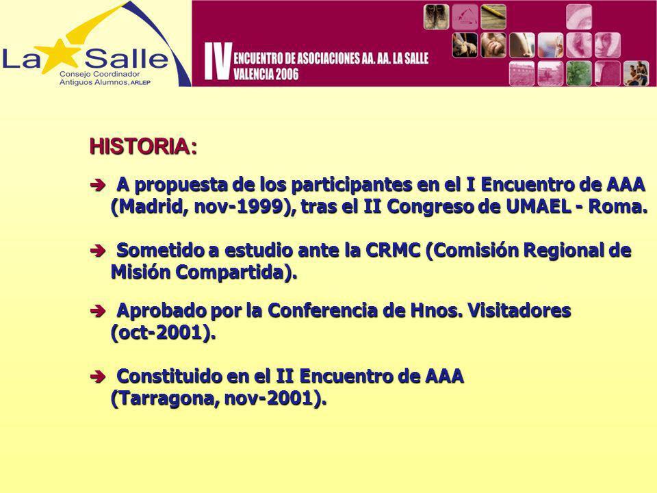 HISTORIA: (Madrid, nov-1999), tras el II Congreso de UMAEL - Roma.