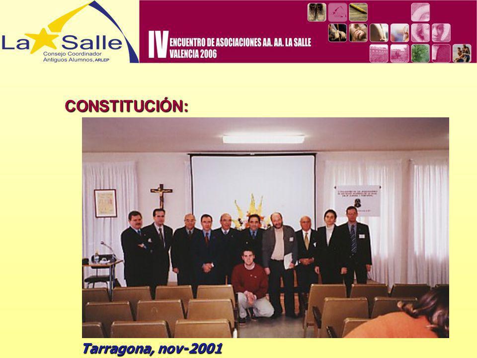 CONSTITUCIÓN: Tarragona, nov-2001
