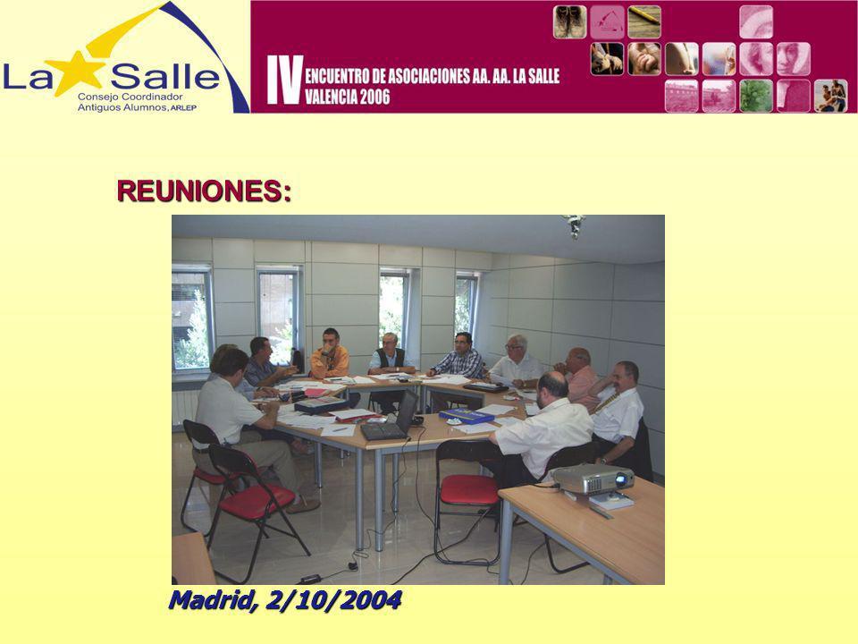 REUNIONES: Madrid, 2/10/2004