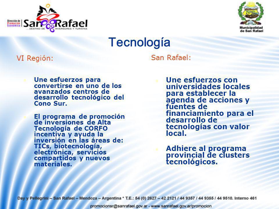 Tecnología VI Región: San Rafael:
