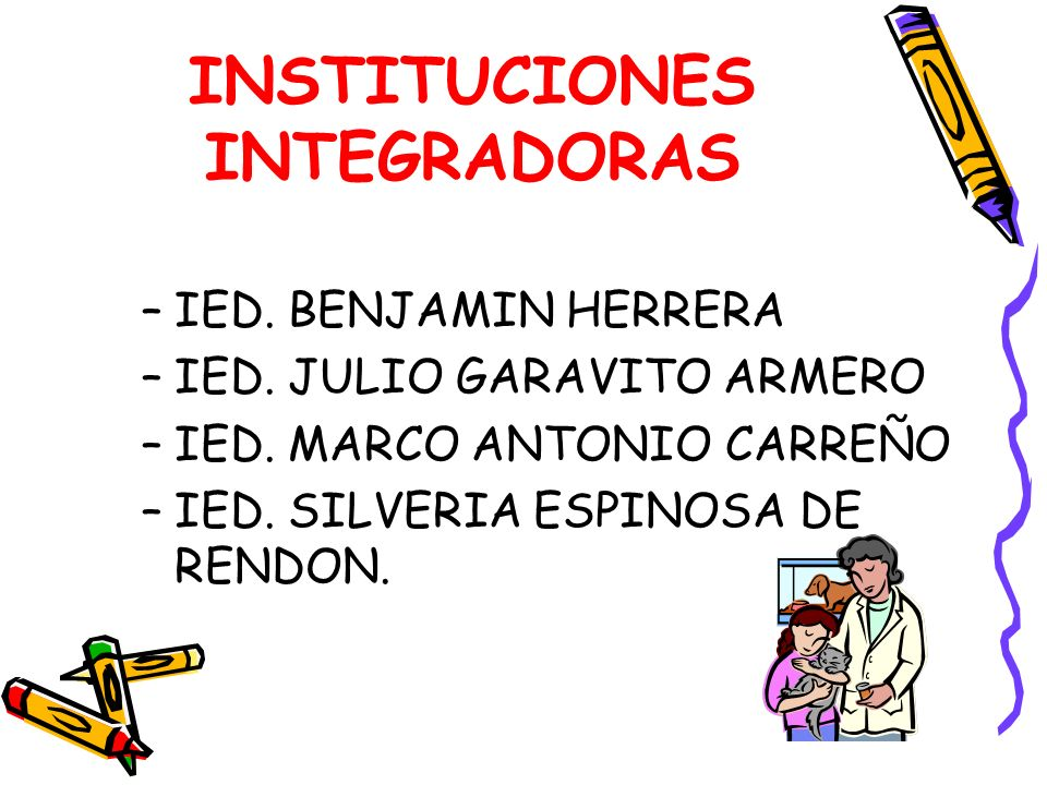 INSTITUCIONES INTEGRADORAS