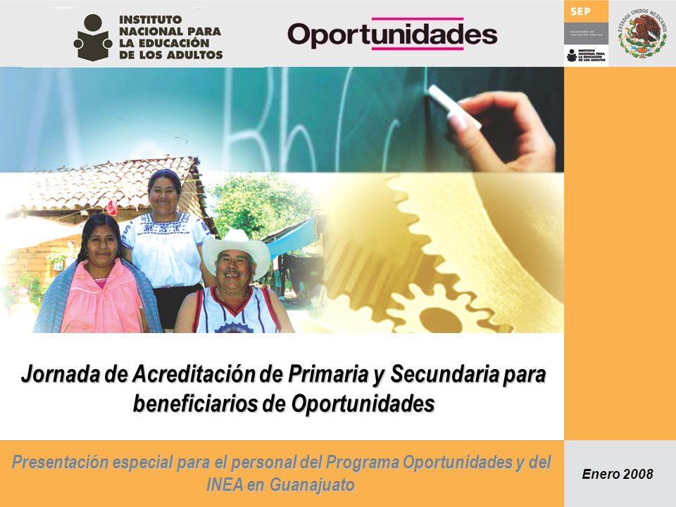 Jornada de Acreditación de Primaria y Secundaria para beneficiarios de Oportunidades
