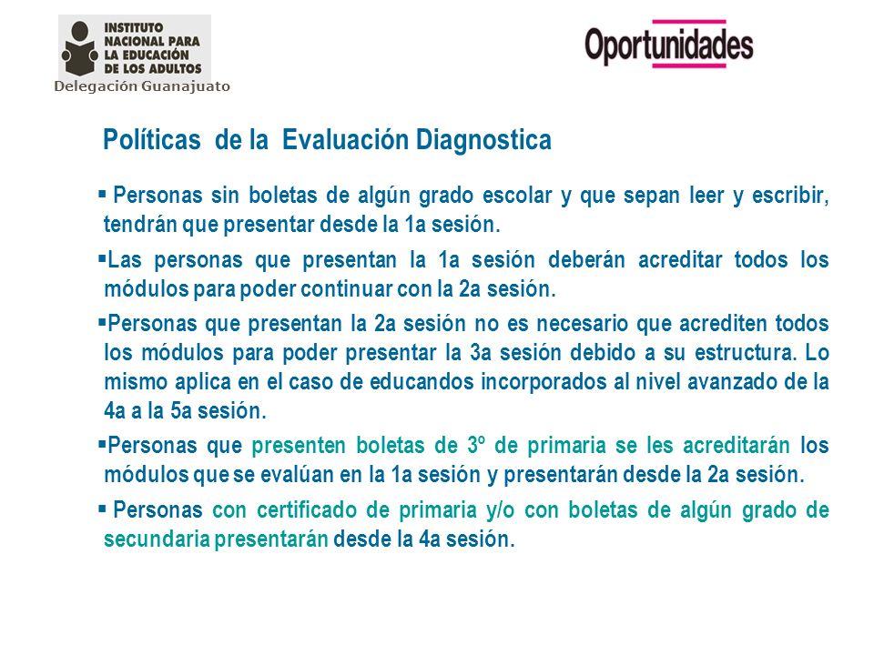 Políticas de la Evaluación Diagnostica