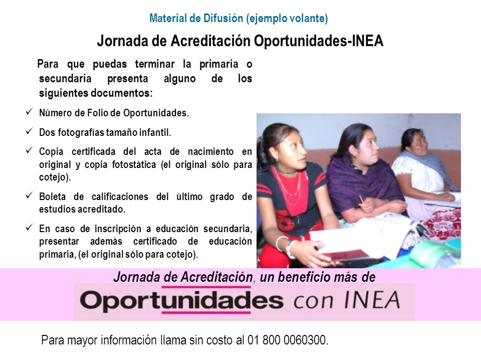 Jornada de Acreditación Oportunidades-INEA