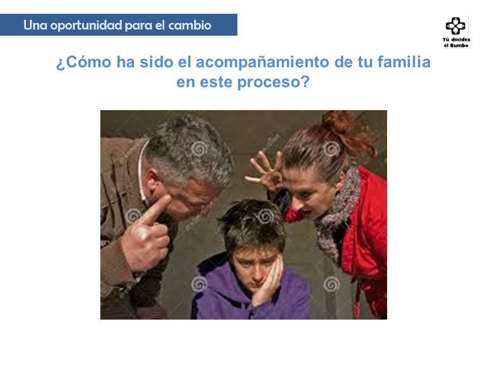 ¿Cómo ha sido el acompañamiento de tu familia en este proceso