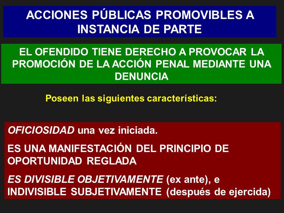 ACCIONES PÚBLICAS PROMOVIBLES A INSTANCIA DE PARTE