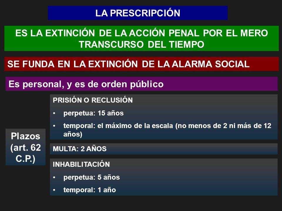 ES LA EXTINCIÓN DE LA ACCIÓN PENAL POR EL MERO TRANSCURSO DEL TIEMPO