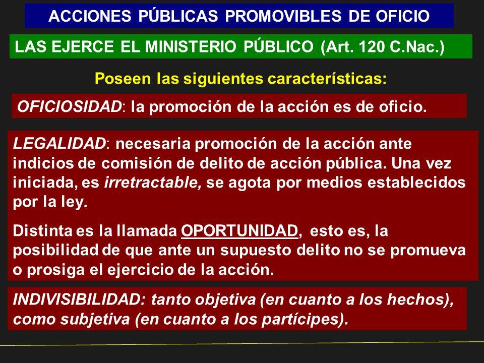 ACCIONES PÚBLICAS PROMOVIBLES DE OFICIO
