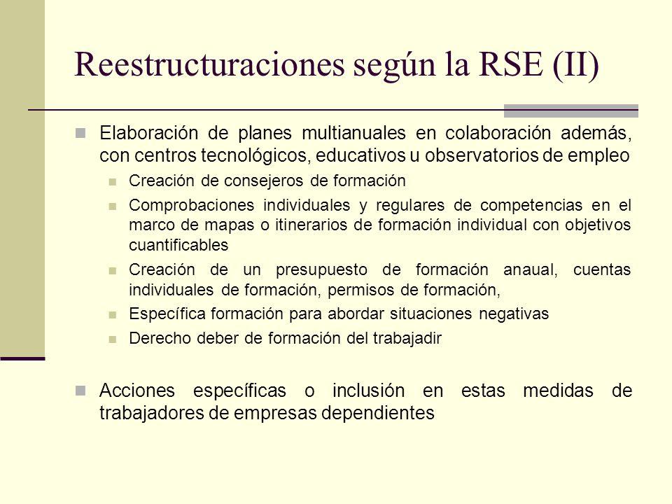 Reestructuraciones según la RSE (II)