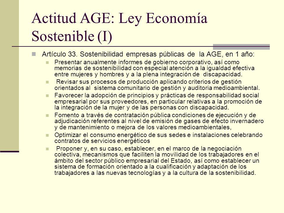 Actitud AGE: Ley Economía Sostenible (I)