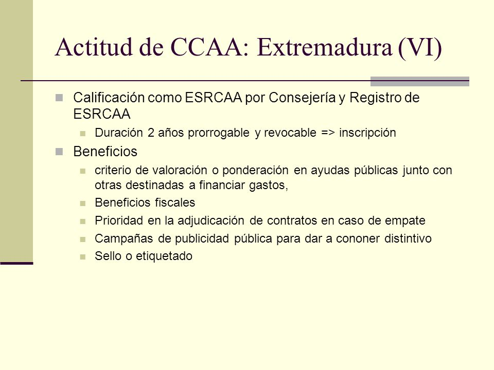Actitud de CCAA: Extremadura (VI)