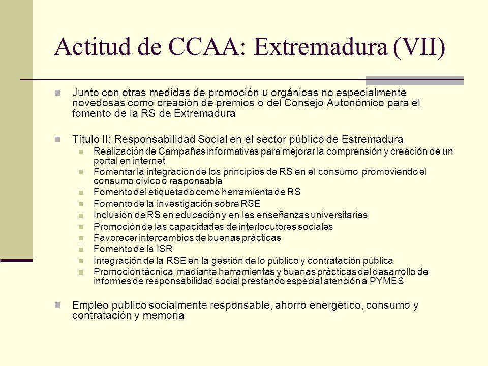 Actitud de CCAA: Extremadura (VII)