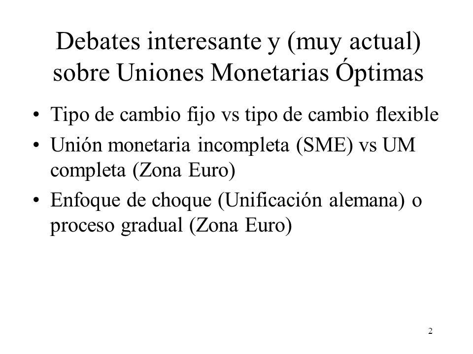 Debates interesante y (muy actual) sobre Uniones Monetarias Óptimas