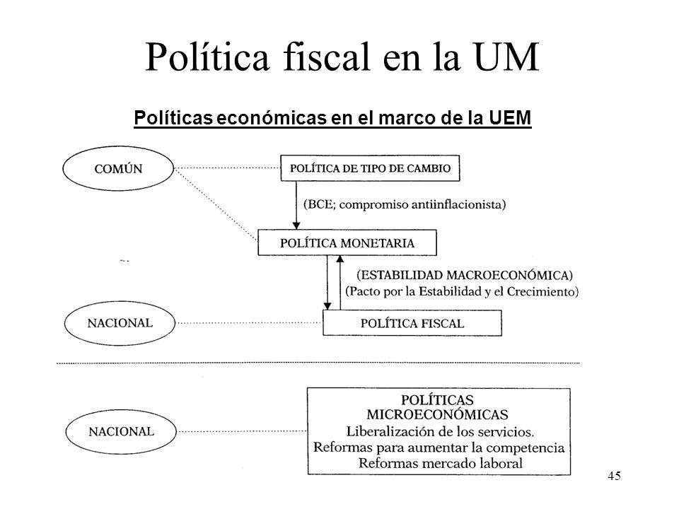 Política fiscal en la UM