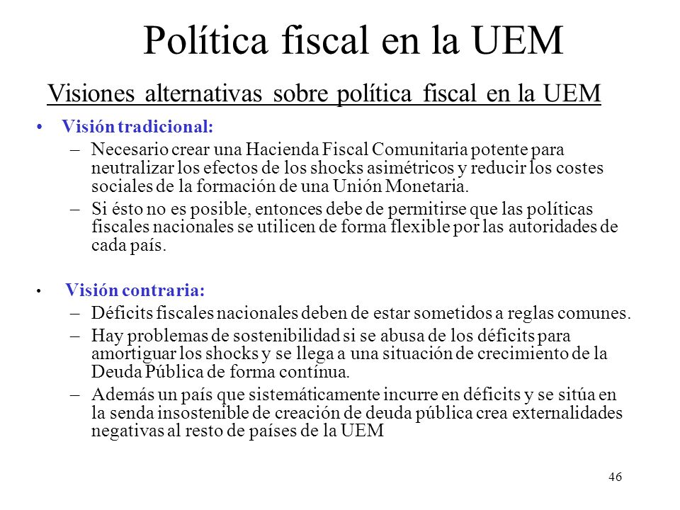 Política fiscal en la UEM