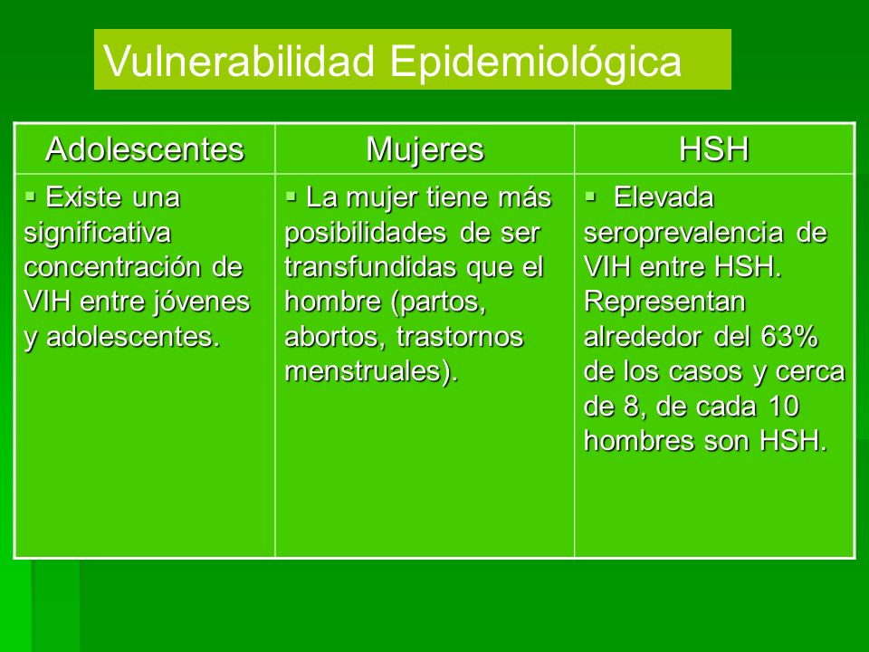 Vulnerabilidad Epidemiológica